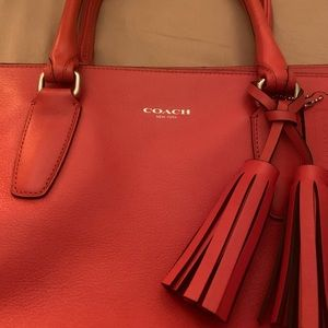 Coach Large Leather Red Purse